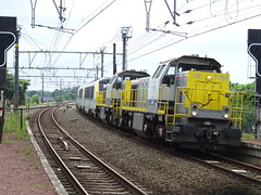 NMBS/SNCB 7751 & 7754 @ Weerde (Sim0nTrains Photos) Tags: nmbs sncb nmbssncb class77 class13 class21 diesellocomotive electriclocomotive sncbclass13 alstom bombardiertransportation bombardier belgiannationalrailways weerderailwaystation weerdestation sncbclass21 labrugeoiseetnivelles