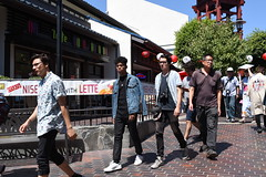 punks on the march, Los Angeles (vtpoly) Tags: littletokyo losangeles people punks sunny polywoda men youth 2016 niseiweek japanese village