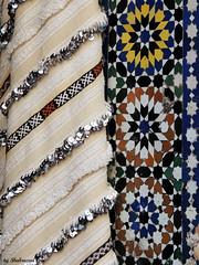 Structures and colors of Fez (Shahrazad26) Tags: fs fez fselbali medina marokko maroc morocco colors couleurs colours farben kleuren zellig zellij mozaek