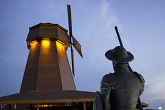 Challenge (kaizerdar) Tags: character fictional fiction donquijote donquixote statue lancer warrior dreams reality inspirational motivational silhouette sky painting hero evening sunset eskiehir turkey trkiye outdoor windmill cervantes