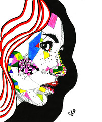 Polygonal portrait (Alejandro Lpez Gonzlez) Tags: girl hot pop art desing pen marker colorfull polygon polygonal beauty redlips look cool coolest redhead freckles face portait asekage whiteskin color draw paint painting paper top follow followme like likeme original new futuristic future robot cyborg longhair wonderfull spain malaga andalucia espaa chica boligrafo rotulador colorido colores rotuladores hermosa guapa bella peliroja labiosrojos guay maravilloso preciosa maravillosa cara retrato futurista papel pintura nuevo pelolargo pielblanca tinta ink