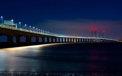 Second Severn Crossing (technodean2000) Tags: second severn crossing seven bridge south wales england bristol nikon d610 long exposure lights river estuary chann channel reflection outdoor sky cloud architecture night overpass