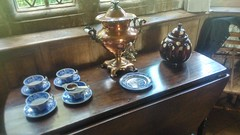 Canons Ashby House & Gardens - August 2016 (CovBoy2007) Tags: canonsashbyhousegardens canonsashby house gardens garden estate countryhouse statelyhomes nationaltrust sirhenrydryden henrydryden countryside countrylife englishcountryside thecountry northamptonshire england english britain british uk thecountryside theenglishcountryside urn tea teacups cups brass elizabethan medieval jacobean manorhouse manor tudor victorian tudors baroque