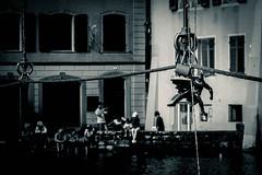 Batman in Lucerne (CS_in_CS) Tags: 70d luzern schwarzweiss stadt eos blackandwhite canon street batman streetphotography