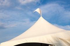 Ex Pennant (josullivan.59) Tags: wallpaper white 3exp evening toronto ontario outside artisitic sunset sunsetlight summer day detail light canon6d canada canonef24105mmf4lisusm clouds blue nicelight minimalism 2016 september tent ex cne canadiannationalexhibition