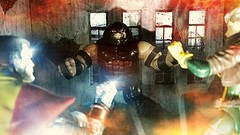 You are going down (custombase) Tags: marvellegends xmen juggernaut rogue select colossus