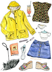 2016 Dutch Summer - Cindy Mangomini (Cindy Mangomini) Tags: cindymangomini cuteness mangomini illustration illustratedlife illustrator drawing handdrawn fashiondrawing whatiworeindrawings fashion fashionillustration fashiondiary ootd outfit gouache watercolor watercolour whatiwore 2016 spring summer rainyweather rain dutchsummer wetsummer raincoat yellowraincoat cocktail tequilasunrise umbrella bobble tea marcjohns marcjohnsbook denimminiskirt denimskirt