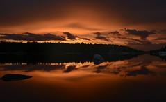 Nightfall (Lindaw9) Tags: sunset twilight late evening silhouettes treeline sky lake shanty bay westarmoflakenipissing