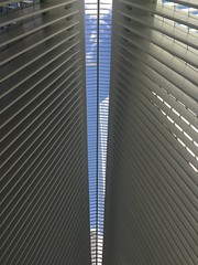 IMG_0493 (gundust) Tags: nyc ny usa september 2016 newyork newyorkcity manhattan architecture wtc worldtradecenter calatrava station path wtctransportationhub transportationhub void oculus wings sculptural verticality white steel glass lighting sun alignment 911 september11 memorial