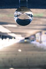 _MG_0287-2 (AdamFejes) Tags: glass globe glassglobe pointofview light sun summer blackandwhite bw colour city budapest danube sunset