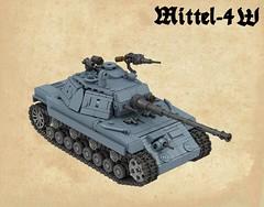 Mittel-IV W (Nightmaresquid) Tags: tank lego render ldd panzer
