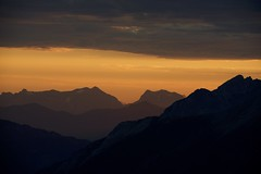 Morning glow! (najeebmahmud) Tags: nikon nature nikkor nikond800 nikkor70200mm d800 70200mm landscape light clouds canada colorful mountains lines golden glow sky summer hiking holiday orange skyline wow awesome shadow black dark explorecanada