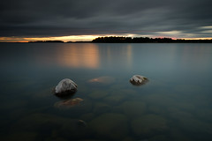 Heavy clouds - Mrudden (- David Olsson -) Tags: mrudden hammar skoghall sweden vrmland lake vnern rocks stones stenar water vatten cloudy clouds darkclouds heavyclouds sunset sundown solnedgng seascape landscape nature outdoor two 2 duo couple smoothwater le longexposure leefilters bigstopper 06hard gnd grad ndfilter blackglass lenr nikon d800 1635 1635mm 1635vr vr fx davidolsson 2016 august augusti