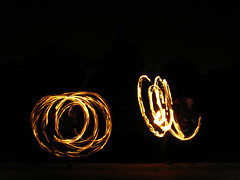 (Kelvin P. Coleman) Tags: canon powershot nottingham people performer groupshot fire spinning twirling performance arboretum afterhours night firespinning firetwirling fireperformance flame flaming poi staff longexposure light trails lighttrails outdoor