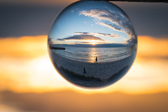 Seaford Sunset (gifas) Tags: seaford melbourne glass orb sunset crystalball upsidedown inverted