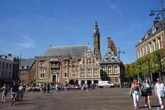 Town hall and Grote Markt ~ Stadhuis en Grote Markt (Haarlem) (Swaentje5) Tags: architecture architectuur cityhall townhall stadhuis grotemarkt haarlem holland nederland netherlands