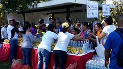 Los participantes pudieron reponer energas al finalizar la actividad (bancos de leche materna) Tags: caminata lactancia materna leche semana mundial parque del este caracas