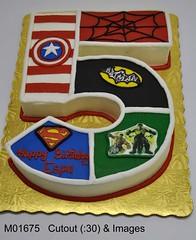 M01675 (merrittsbakery) Tags: cake shaped dc comics marvel superhero batman spiderman superman captainamerica hulk