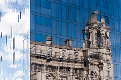 Liverpool - Two Reflections (Andrew Hounslea) Tags: 28300 28300vr afsnikkor28300mmf3556gedvr architecture building buildings cloud clouds d750 england g kingdom liverpool merseyside nikkor nikon reflection reflections sky united unitedkingdom vr