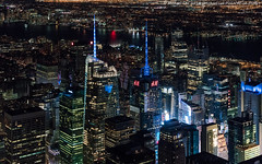 Aerial Times Square (DSC09744) (Michael.Lee.Pics.NYC) Tags: newyork aerial helicopter flynyon timessquare hudsonriver architecture cityscape night 2016 sony a7rm2 fe2470mmgm