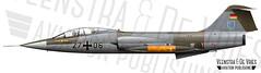 TF-104G 2706 583D-5707 WASLW10 (Lieuwe de Vries) Tags: waslw10 tf104g 2706 583d5707 starfighter luftwaffe trainerf104 illustration profile drawing artwork lieuwedevries