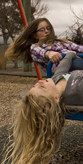 Cousins at Maidstone Park, Upper Hutt 61 (C & R Driver-Burgess) Tags: boys girls young play park playground plaid jeans minecraft tshirt blonde curls blue roundabout spinner child kids flying smile