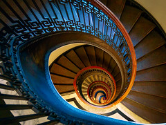 Eye of the storm (JohnNguyen0297 (busy - on/off)) Tags: spiral staircase sanfrancisco stairs california johnnguyen johnnguyen0297 embarcadero mechanicinstitutelibrary lookdown goldcollection spiralstaircase spiralstaircases mechanicsinstitute