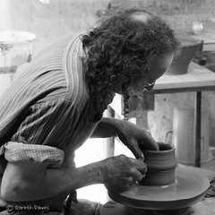 Potter_bw_sq (GD60246) Tags: heritage wheel potter potting ballenberg