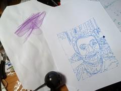 New polargraph experiments (Euphy) Tags: art pen paper robot drawing machine line faire kit hack maker arduino polargraph hangingv