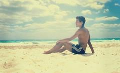 (CI !) Tags: ocean boy sea summer sky sun black guy sol beach water mar model sand body cuba playa dancer arena cielo nubes verano chico abs playablanca caribe caribean cayolargo