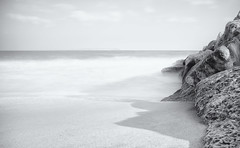 Mudeford Redux (Humphrey Hippo) Tags: uk longexposure sea christchurch england bw seascape beach water monochrome coast explore dorset gb fujifilm 365 mudeford x100 project365 explored nd30 niksoftware silverefexpro silverefexpro2 fujifilmx100