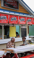 Friday Night Discussion - Oistins, Barbados (iain read) Tags: friends men beer barbados caribbean conversation banks oldmen fridaynight westindies oistins banksbeer