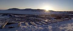 old sled sunset 2 (useless no more) Tags: north arctic inuit northwestterritories far northerncanada ulukhaktok