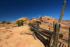 (M Brian M) Tags: park sky mountains fence landscape outdoors utah trails moab