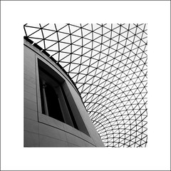 Her Majesty (Mr sAg) Tags: blackandwhite london window museum architecture square mono geometry perspective britishmuseum atrium greatcourt sag hermajesty simonharrison mrsag