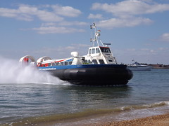 Hovercraft (PD3.) Tags: uk travel sea england beach ferry freedom craft hampshire solent isle 90 ferries wight hover hovercraft iow ryde hants hovertravel