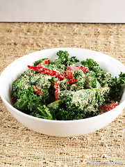coconut ginger kale salad
