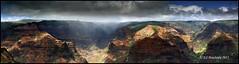 Wiamea Canyon Panorama (Ed Boudreau) Tags: sun rain clouds hawaii kauai waimeacaynon