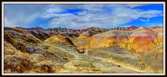 Badlands National Park - South Dakota - April 2013 (mastrfshrmn) Tags: road sky panorama color photo nationalpark rocks loop picture badlands hdr