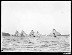 Yachts under sail on Sydney Harbour