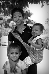 They smile regardless.... (lynhdan) Tags: street travel portrait blackandwhite asia cambodia southeastasia cambodian khmer smiles phnompenh pnh earthasia canon5dmarkii lynhdan lynhanphotography