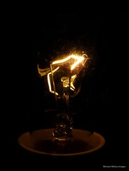 DSCF1740 April 12th L is for Lightbulb (Michael Melloy Images (greasemonkey1978)) Tags: light lamp lightbulb electricity april lit 12 filament voltage april12 april2013