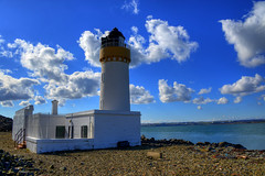 CAIRNRYAN LIGHTHOUSE, LOCH RYAN, CAIRN POINT, CAIRNRYAN, WIGTOWNSHIRE, SCOTLAND. (ZACERIN) Tags: pictures colour and the in alan nikon pictures point blue hdr of blue stevenson uk selective colour loch lighthouse lighthouse scotland hdr dumfries galloway ryan cairn lighthouses lighthouses d800 zacerin cairnryan cairnryan wigtownshire 1964 1847