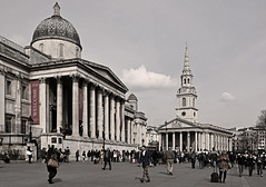 North Terrace of Trafalgar Square (Nikon D7100) (markdbaynham) Tags: city portrait urban london field st architecture digital buildings square nikon gallery terrace capital north trafalgar national cropped format dslr martins sensor dx in churcj apsc d7100