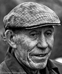 Dinny (Michael-Norton) Tags: old ireland portrait bw face cap farmer wrinkled codonegal
