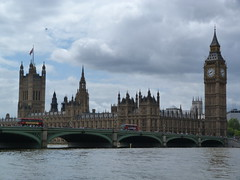 Houses of Parliament and Big Ben (Belinda Fewings (3 million views. Thank You)) Tags: london clock water reflections river whatevertheweather big waves colours traffic ben parliament bigben riverthames westminsterbridge 2012 londonbus london2012 inspireaholidayortrip