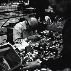 The Watchmaker (Archeophotography - Herbert Eisengruber) Tags: mamiya vintage shanghai six folder watchmaker gp3