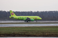 a green one. (n_dunaev) Tags: airplane spring airport russia moscow aircraft airbus april airlines spotting dme aiport s7 planespotting domodedovo