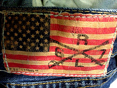 R.L. 67 (marc falardeau) Tags: blue red urban sign jean label flag denim redwhiteandblue amateur 67 starsandstripes 4s rl ralphlauren iphone oldglory stiching gayphotographer