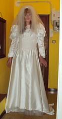 veil cd transvestite weddingdress crossdresser bridalgown tgurl tbride